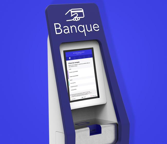 Application Banque - Borne de remise de chèques